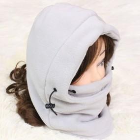 winter hat hoodie-white